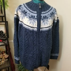 Tommy Hilfiger Handknit Chunky Snowflake Sweater